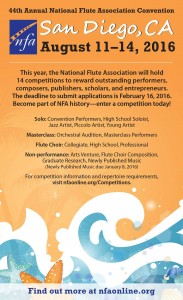 11-14 août 2016 - 44th Annual National Flute Association Convention