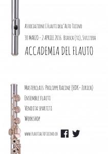 30 mars- 2 avril 2016 - Accademia del Flauto