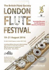 19-21 août 2016 - Flutastic - The BFS London Flute Festival