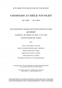 Concert souvenir Aurèle Nicolet
