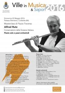 22 May 2016 - Flute masterclass Alfred Rutz