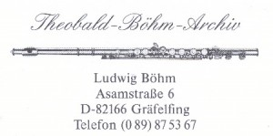 10-14 octobre 2016 - 3rd International Theobald Böhm Competition for Flute and Alto Flute