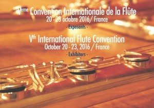 20-23 octobre 2016 - Ve Convention Internationale de la Flûte